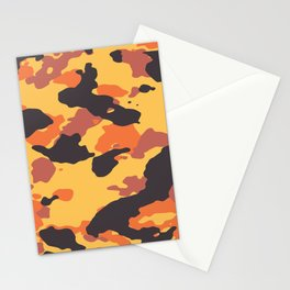 Orange and yellow Camo Stationery Cards