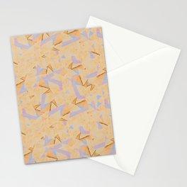 peach colored pencil geometric scratchboard Stationery Cards
