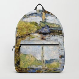 Boat At Anchor - John Henry Twachtman Backpack
