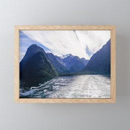 Milford Sound, New Zealand | Fiordland National Park (South Island) | Colorful Travel Photography Framed Mini Art Print