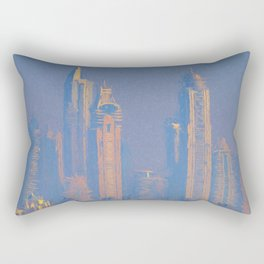 Architecture Of Dubai Art Rectangular Pillow