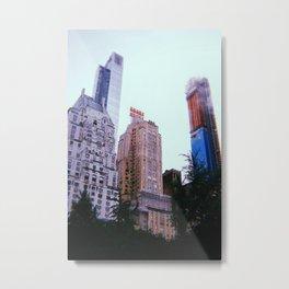 New York City // Retro 14 Metal Print