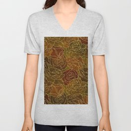 ABSTRACT FLORAL 4 Unisex V-Neck