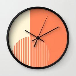 Geometric Art in Orange Wall Clock