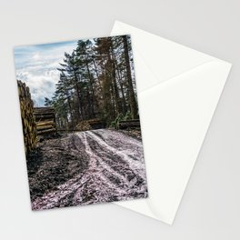 Poltery Site (Wood Storage Area) After Storm Victoria Möhne Forest 5 Stationery Cards