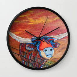 Fly Me to the Moo Wall Clock