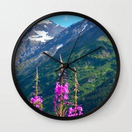 Fireweed ~ Mid-Summer Wall Clock