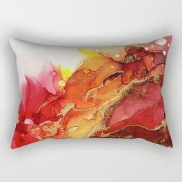 Golden Flame Abstract Ink - Part 1 Rectangular Pillow