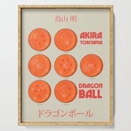 Dragon Ball, A. Toriyama manga, alternative movie poster, cult anime, Japanese wall art. Serving Tray