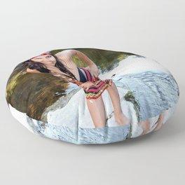 Indian Woman Floor Pillow