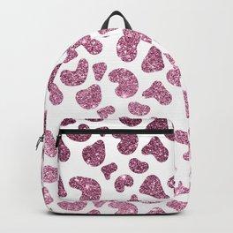 Chic burgundy pink glitter gradient cheetah print Backpack