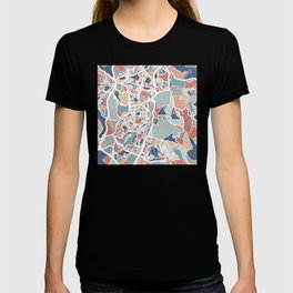 Jerusalem Map Art T-shirt