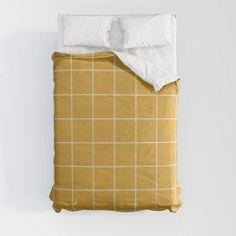 Small Grid Pattern - Mustard Yellow Comforters