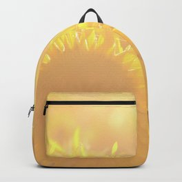 Glowing in Sunlight Sunflower Photography Backpack