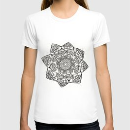 Kaleidoscope Mandala Drawing T-shirt
