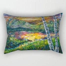 Sleeping Meadow  - Colorado Moose Crossing  Rectangular Pillow