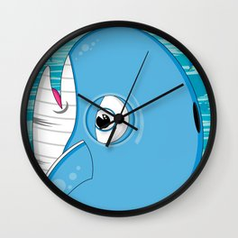 Cute Jonah and the Whale Wall Clock