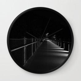 T Pott Memorial Bridge At Night Wall Clock