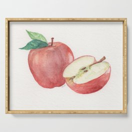 Apple and a Half Serving Tray