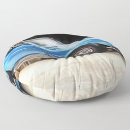 Vintage 1969 Ocean blue 427 Stingray Vette Big Block Floor Pillow