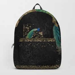 Steampunk peacock Backpack