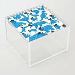 Blue Animals Black Hats Acrylic Box