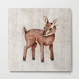 Little Fawn, Baby Deer, Forest Animals, Woodland Nursery, Baby Animals Metal Print