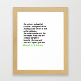 Critical Theory.. But Make It Fashion Framed Art Print