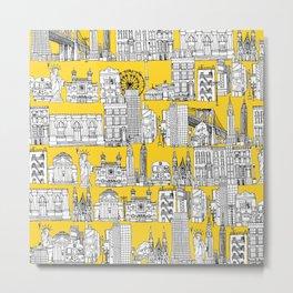 New York yellow Metal Print