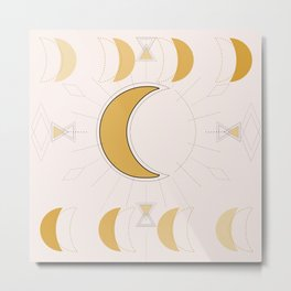 Moon over the dessert Metal Print