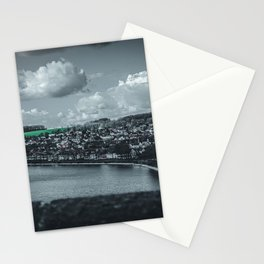 Cityscape Möhne From Reservoir Barrage Wall dark Stationery Cards