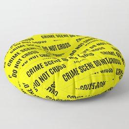 Crime Scene Tape Pattern Floor Pillow