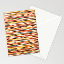 Bright Colorful Lines - Classic Abstract Minimal Retro Summer Style Stripes Stationery Cards