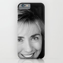Black & white Portrait of HRC (1992) iPhone Case