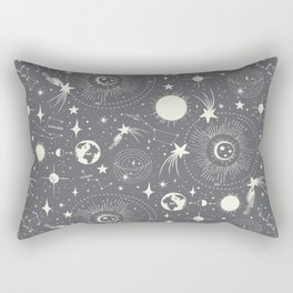 Solar System - Moon Dust Rectangular Pillow