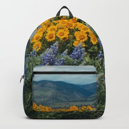 Oregon Spring Wildflower Hillside Backpack