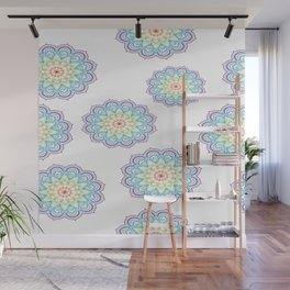 Abstract backdrop mandala Rainbow Wall Mural