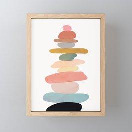 Balancing Stones 22 Framed Mini Art Print