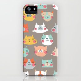 Hola Gatos iPhone Case