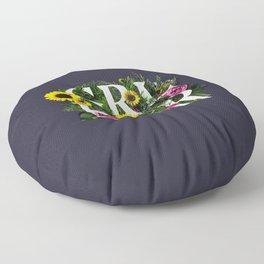 Girl Power Flowers Floor Pillow