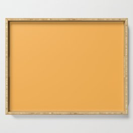 From The Crayon Box – Yellow Orange - Bright Orange Solid Color Serving Tray