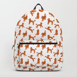 Red Poodles Pattern Backpack