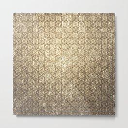d20 Forbidden Scroll Critical Hit Pattern Metal Print