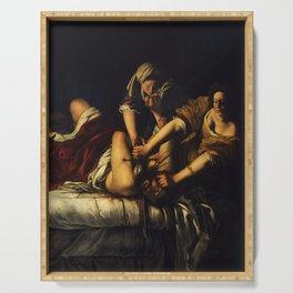 Artemisia Gentileschi - Judith Beheading Holofernes Serving Tray