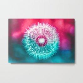 Dandelion Nucleus Metal Print