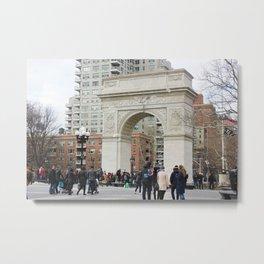 Washington Square Park in Winter Metal Print