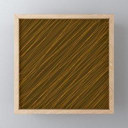 Royal ornament of their bronze threads and dark intersecting fibers. Framed Mini Art Print