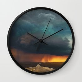 Riders on the Storm (Route 66) - The Loneliest Road in America Wall Clock