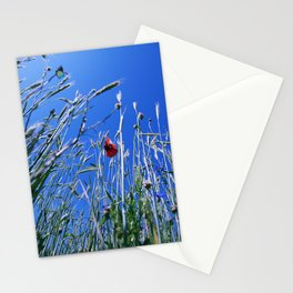poppy flower no4 Stationery Cards