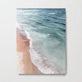 Ocean Print, Beach Sea Print, Aerial Beach Print, Minimalist Print, Beach Photography, Bondi Beach Metal Print